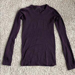 Lululemon swiftly tech purple long sleeve